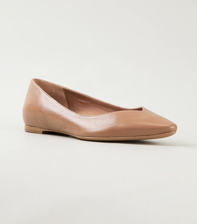 Chloé Pointed-Toe Ballerina Flats