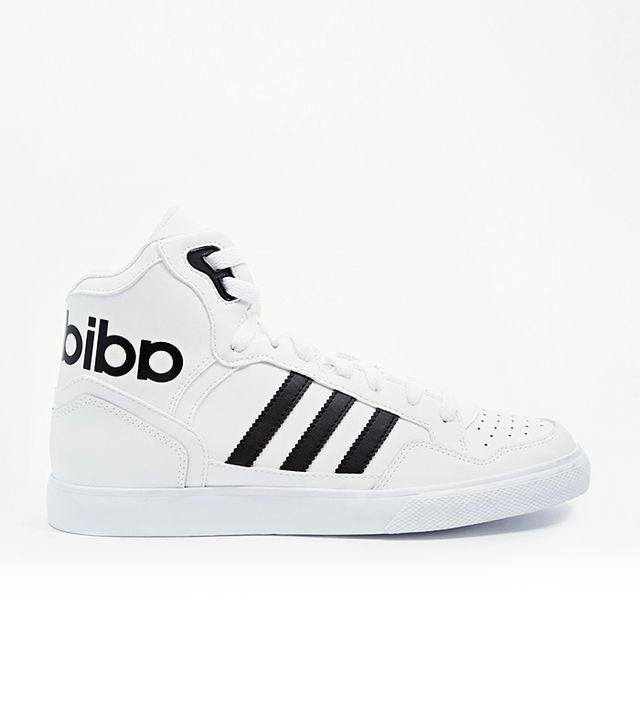 Adidas Originals Extaball White High Top Sneakers