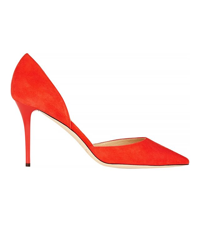 Jimmy Choo Addison Suede Pumps in Fire
