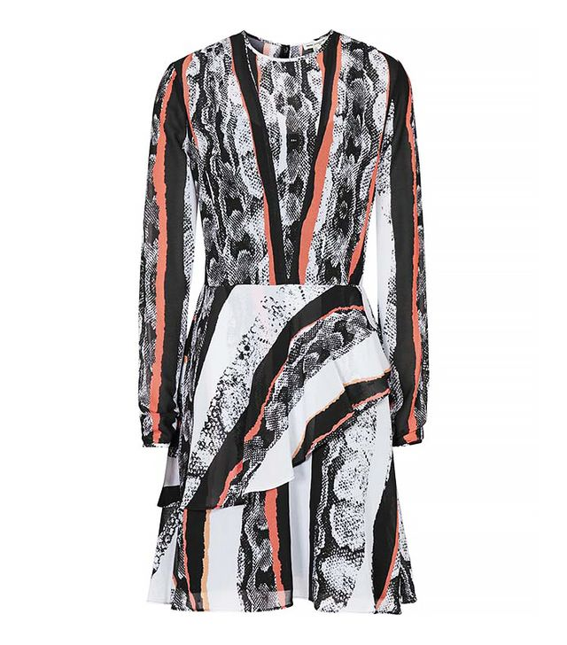 Reiss 1971 Lori Printed Asymmetric Dress