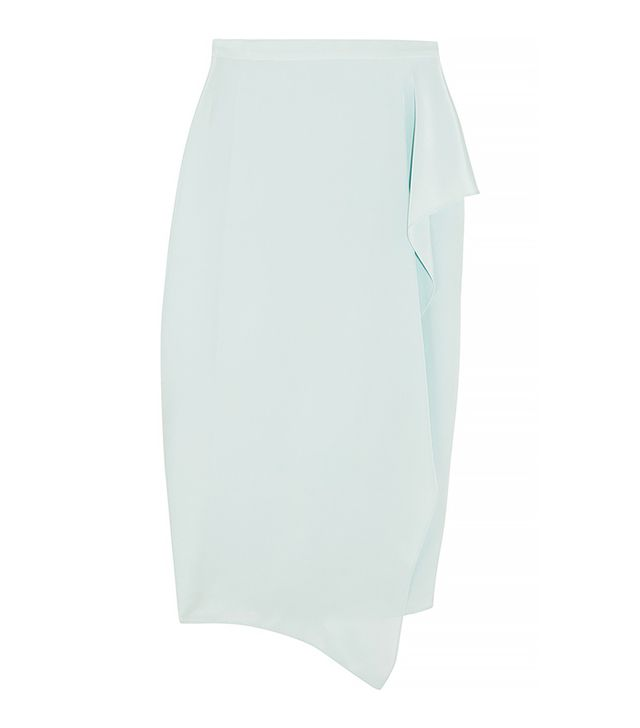 Vionnet Wrap-Front Silk Skirt