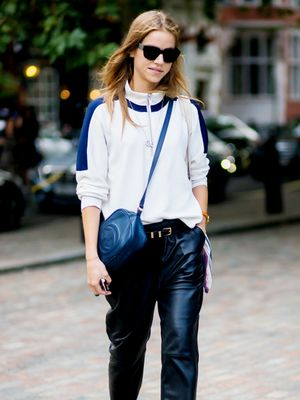 The Sporty Way to Wear Your Leather Trousers