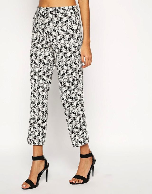 Cigarette Pants in Textured Floral