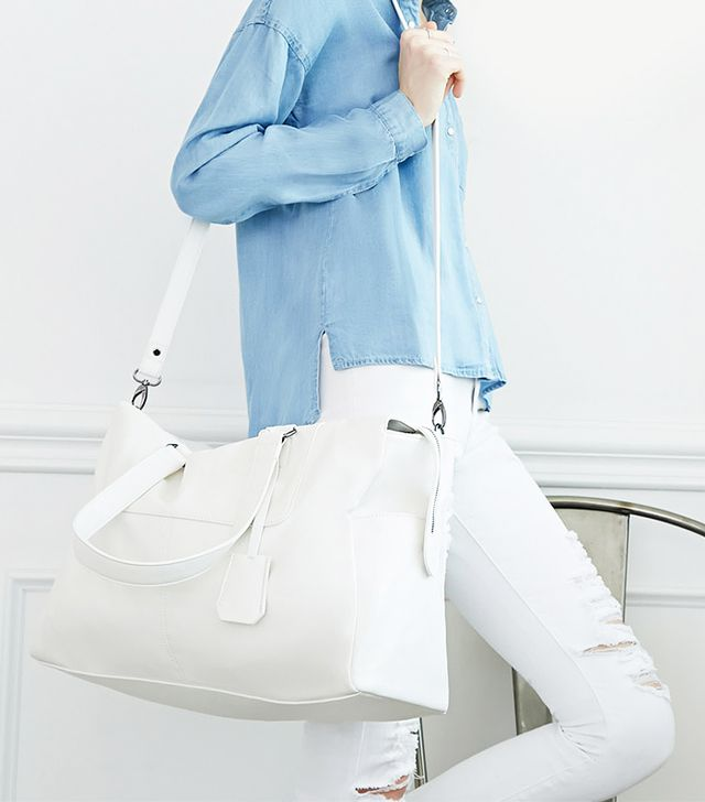 Forever 21 Faux Leather Weekender Bag
