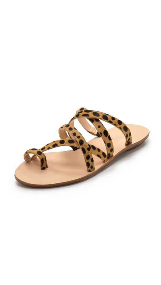 Loeffler Randal Sarie Haircalf Flat Sandals