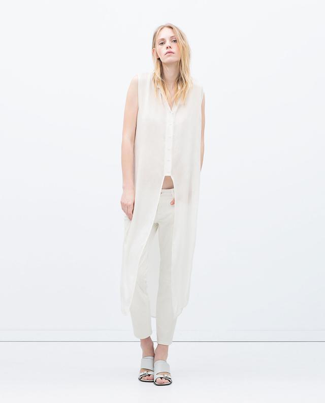 Zara Long Vented Shirt