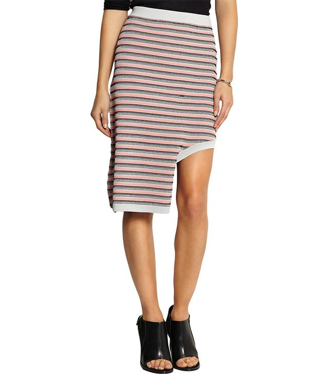 Opening Ceremony Asymmetric Striped Skirt