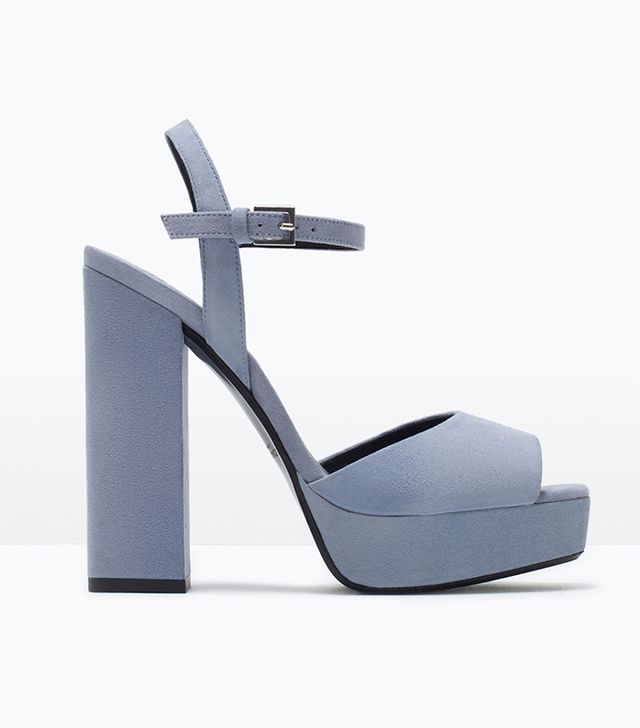 Zara Leather Platform Sandals