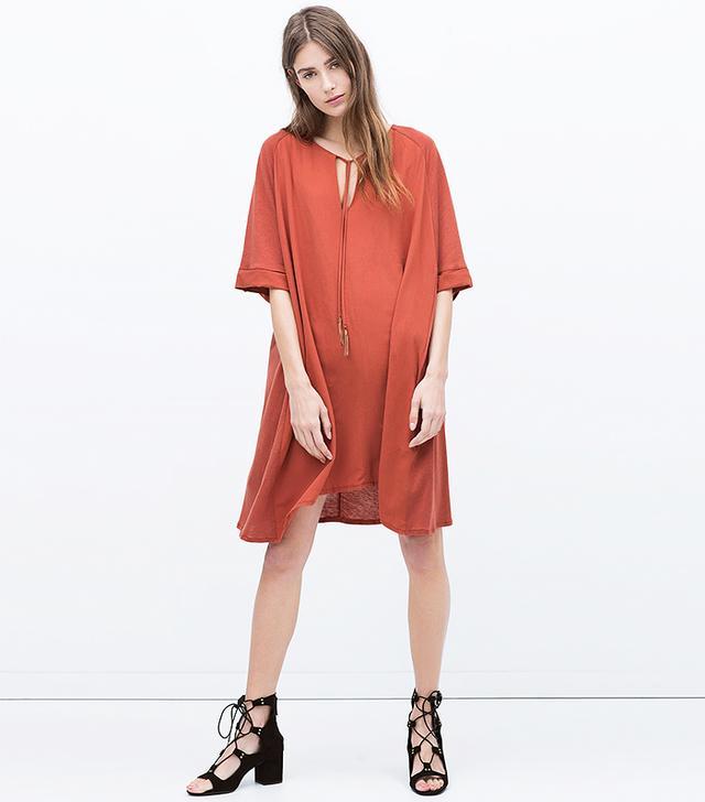 Zara Tunic Dress With Tassels