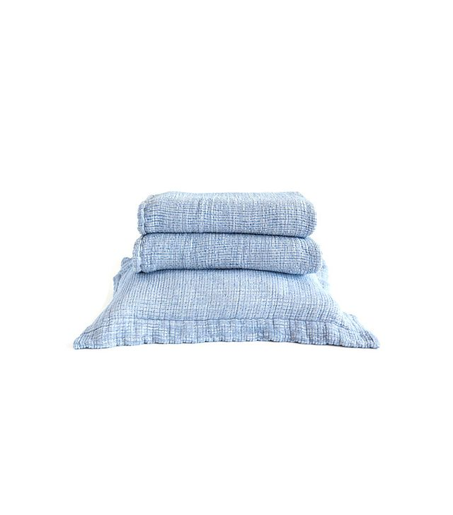 Zara Home Cotton Denim Bedspread and Pillowcase