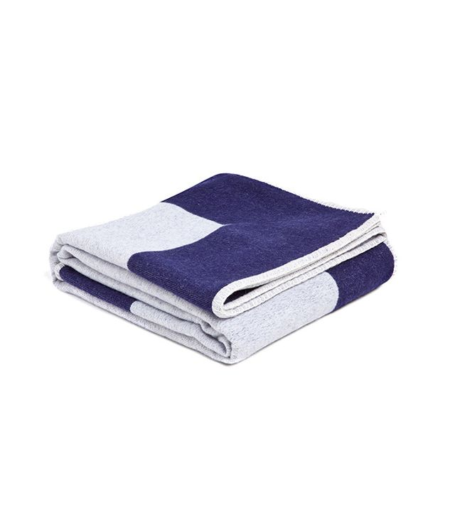 Zara Home Blue Wool Blanket