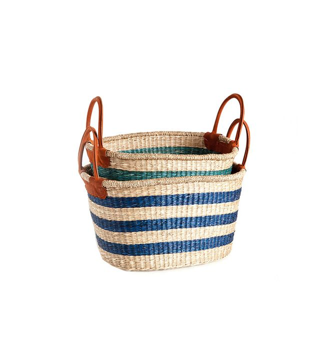 Zara Home Contrasting Blue Basket
