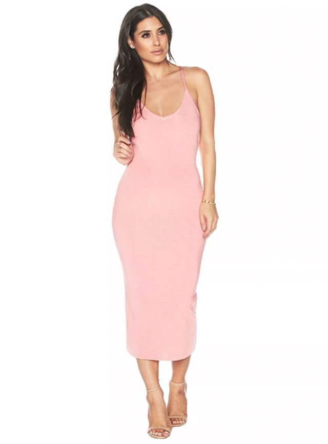 Naked Wardrobe Midi-Dress