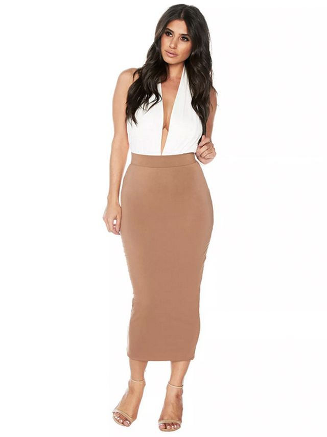 Naked Wardrobe The Lust Midi Skirt