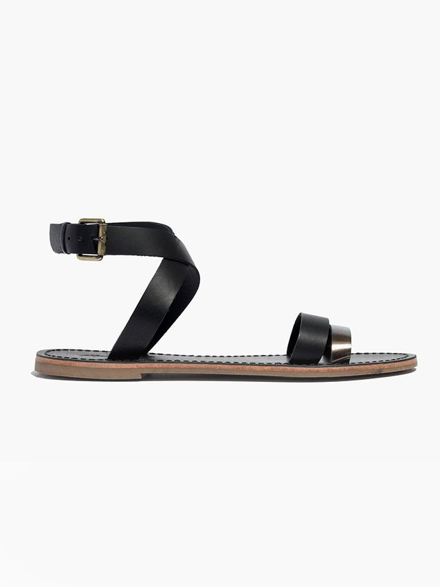 Madewell Sightseer Ankle-Wrap Sandals