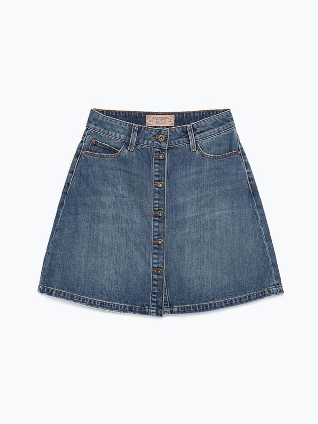 Zara Short Denim Skirt