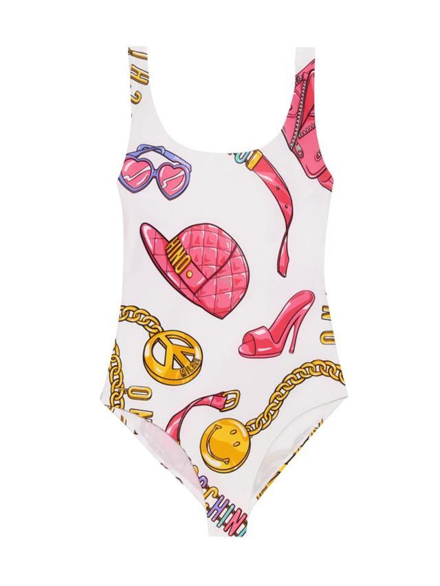Moschino Towel Print Swimsuit