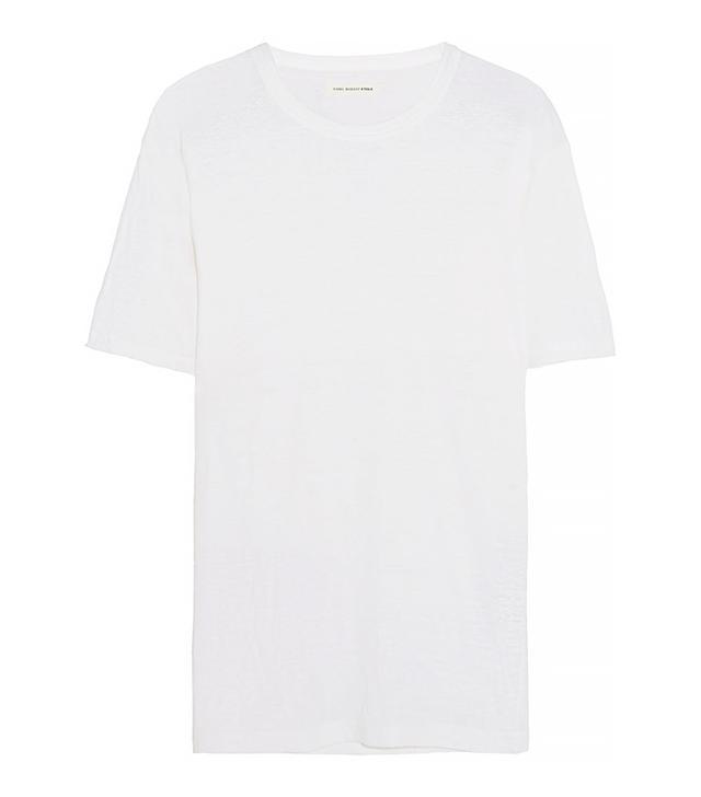 Étoile Isabel Marant Keiran Slub Linen-Jersey T-Shirt