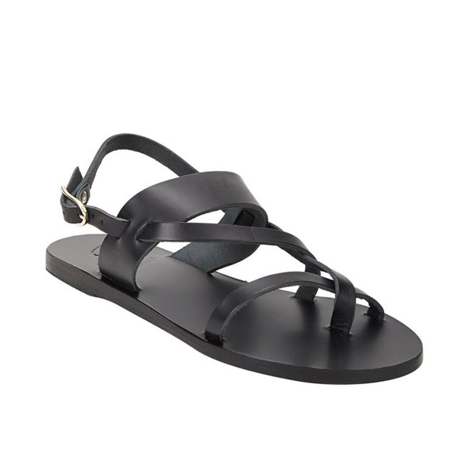 Ancient Greek Sandals Alethea Crossover-Strap Flat Sandals
