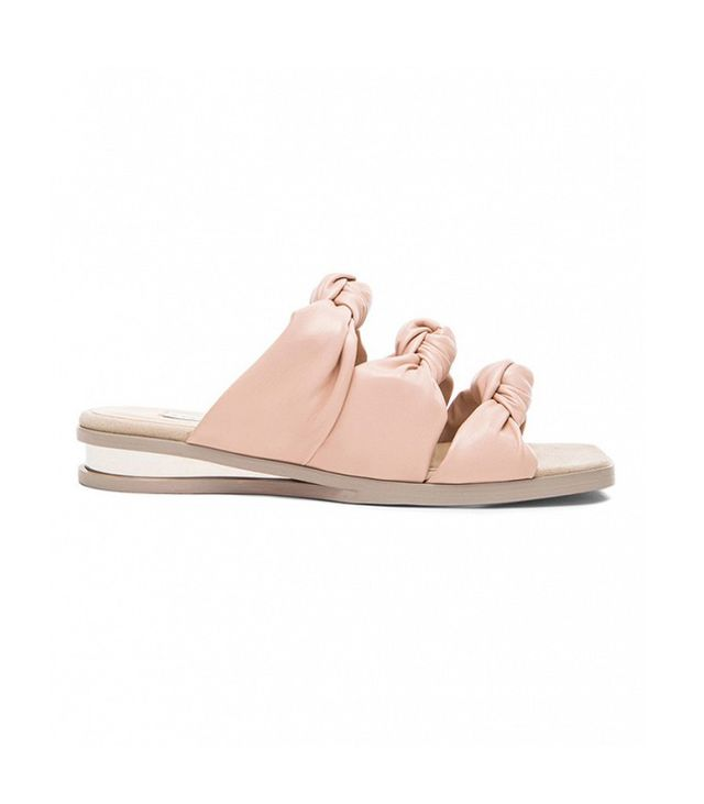 Stella McCartney Knot Faux Leather Sandals