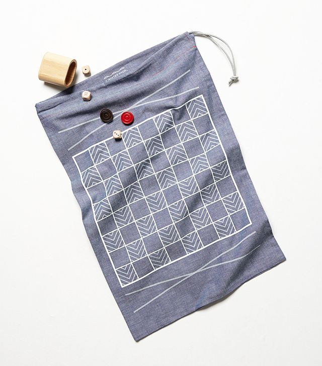 A Summer Shop Checkers Backgammon Set
