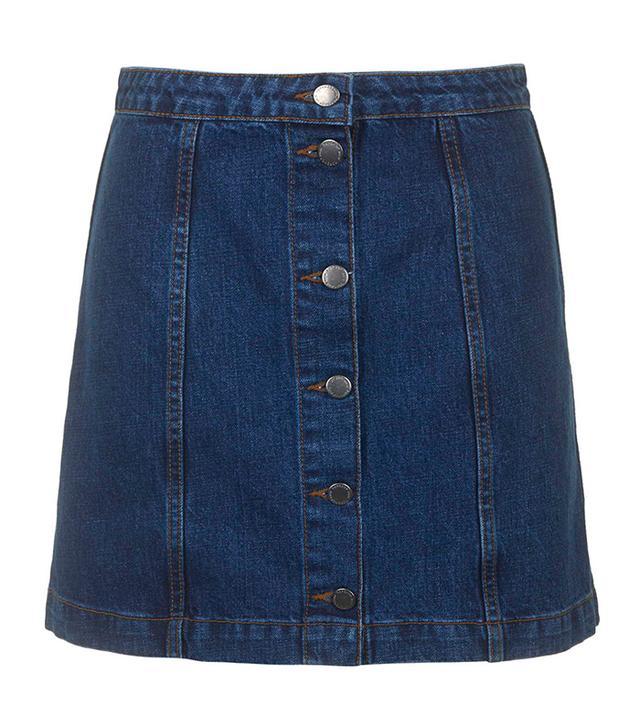 Topshop Button Through Skirt