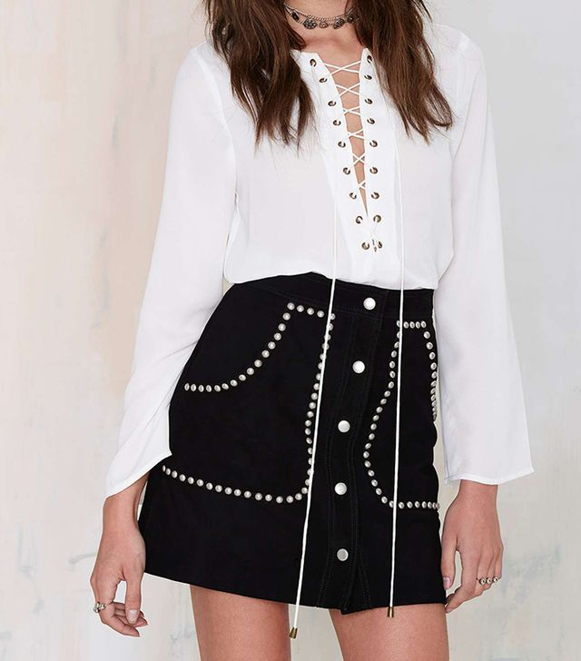 Nasty Gal Electric Ladyland Suede Skirt