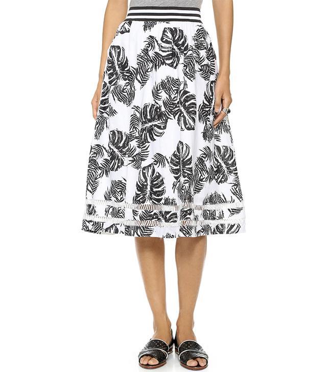 J.O.A. Tropical Safari Skirt