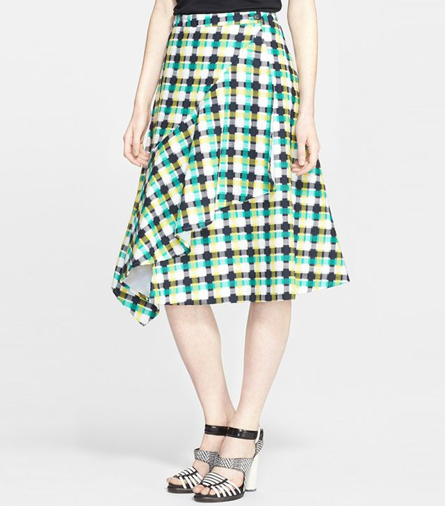 Creatures of the Wind Ruffle Plaid Skirt