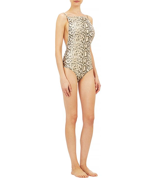 Zimmermann Reversible Snake-Print One-Piece