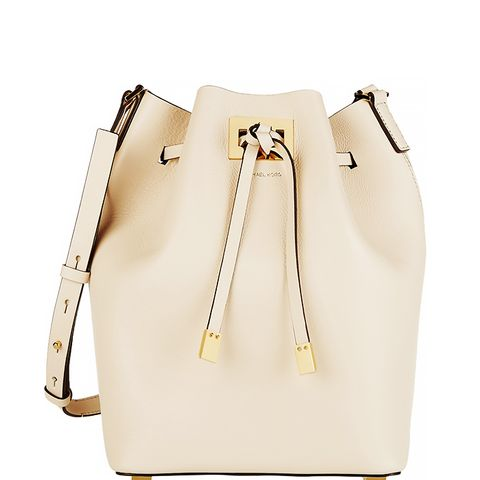 Large Miranda Leather Bucket Bag