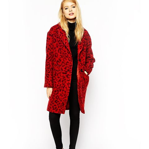 Coat in Hairy Animal Print