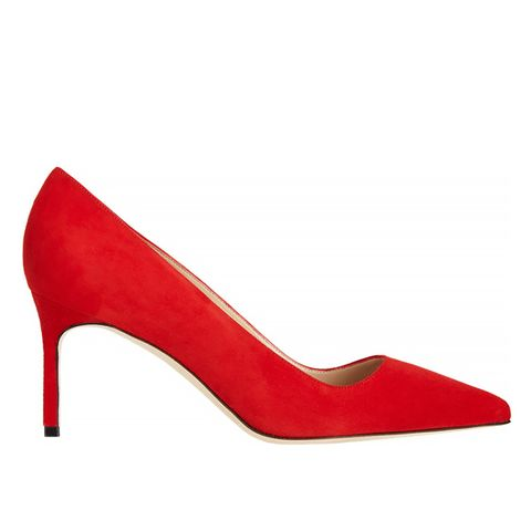 Suede BB Heel in Red