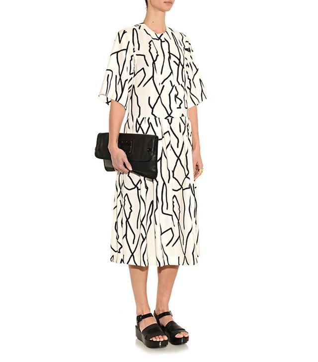 Ellery Oregon Pool-Print Crepe Dress