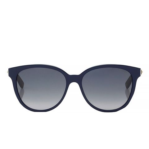 Blue and Glitter Acetate Framed Sunglasses
