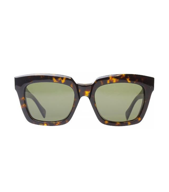 Céline Dark Havana Fashion Sunglasses With Grey Lens