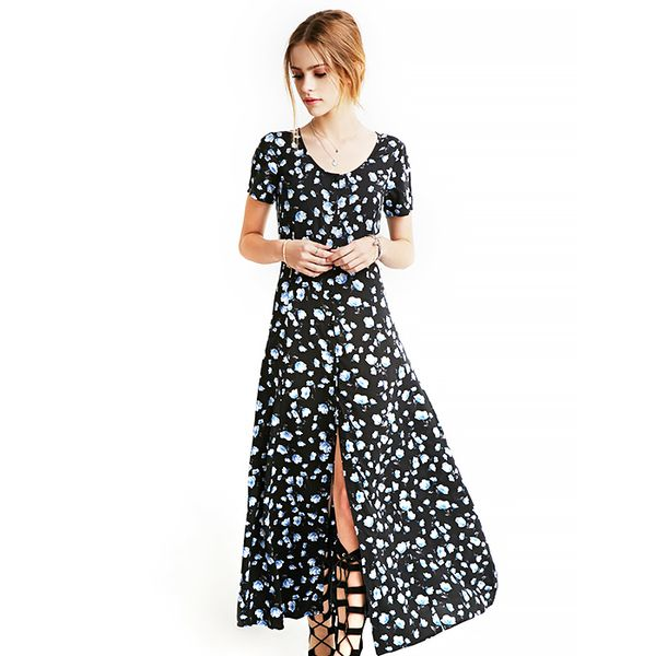 Forever 21 Buttoned Floral Maxi Dress