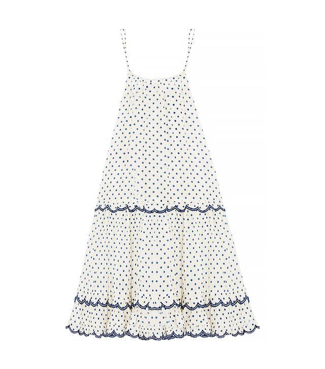 Zimmermann Ceramic Polka-Dot Cotton And Silk-Blend Dress
