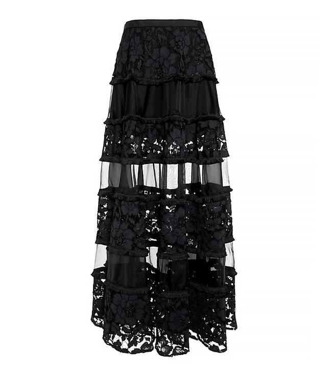 Alexis Lace/Chiffon Maxi Skirt