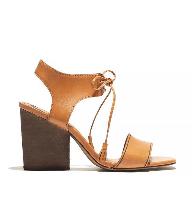 Madewell The Gabi Sandal in Brown Leather
