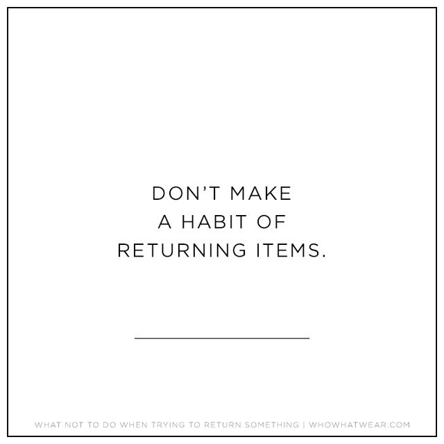 A lot of stores have a return policy like LOFT's, where there's a $700 return limit within a 90-day period. That means that every time you return an item, its original amount is entered...