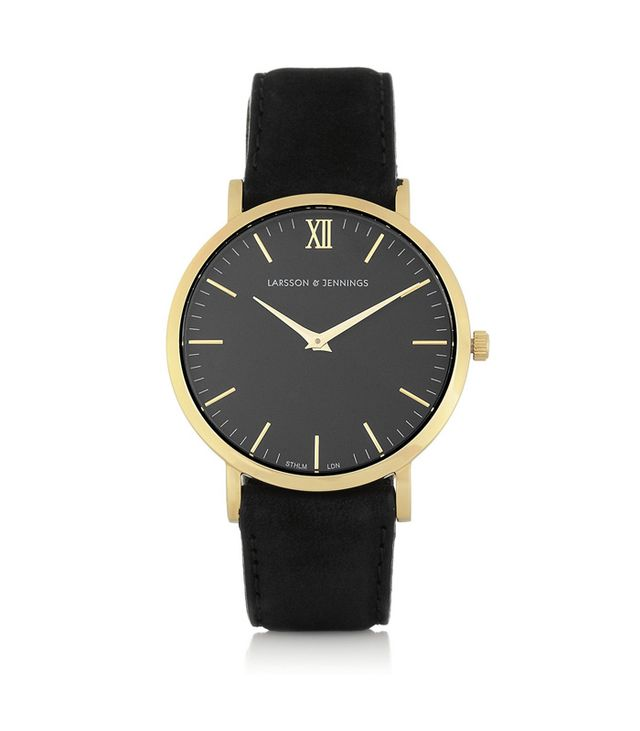 Larsson & Jennings Lader Suede and Gold-Plated Watch