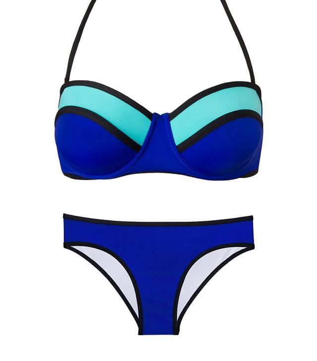 Beach Joy Beach Joy Color Block Bustier ($35) and Bottoms ($35)