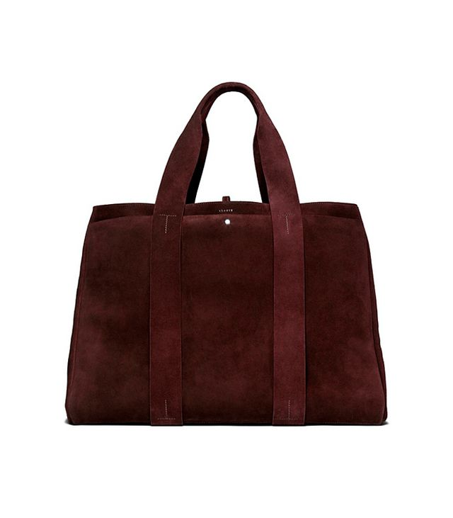 Theory Large Signature Tote in Cedar