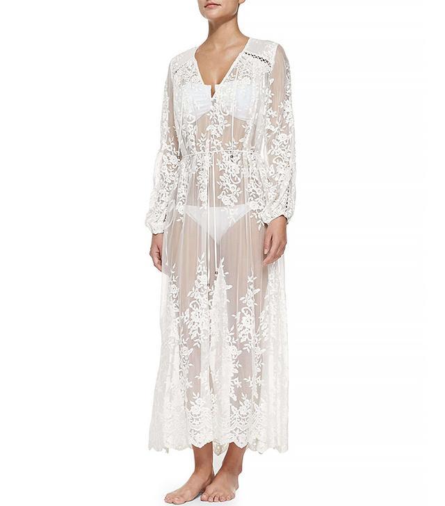 Zimmermann Essence Silk Veil Gather Dress