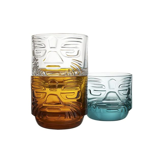 CB2 Tiki Stacking Glasses