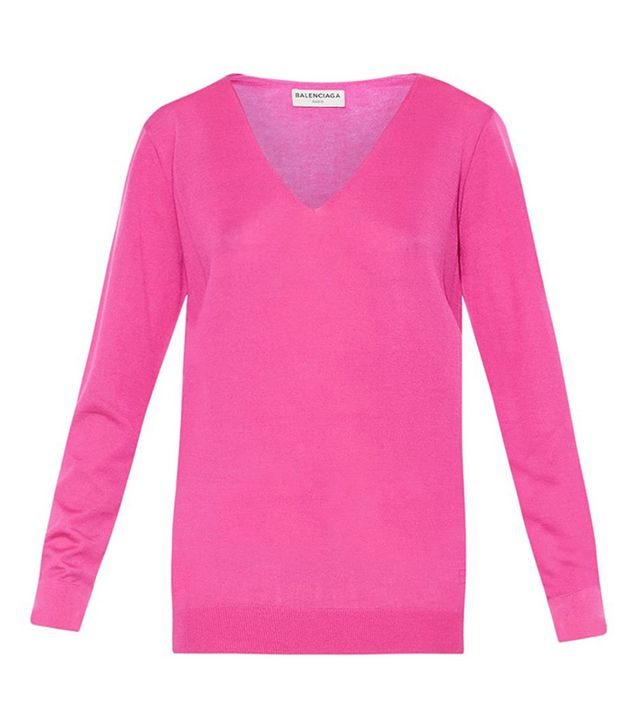 Balenciaga V-Neck Cashmere Sweater