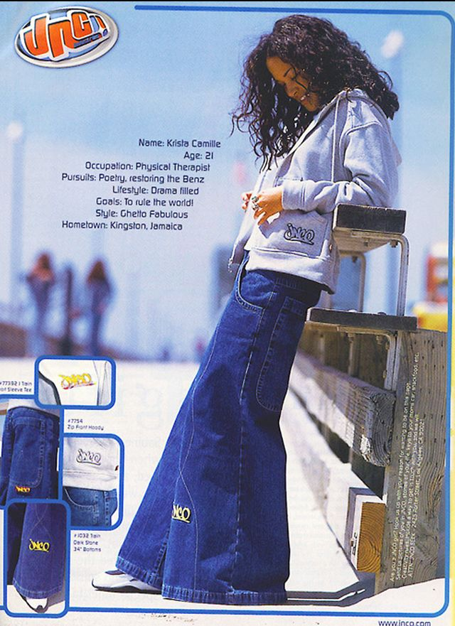 The Los Angeles–based denim brand JNCO was wildly popular in the late '80s and '90s for its baggy jeans with leg openings that reached 50 inches in their widest iteration....