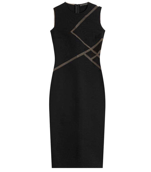 David Koma Dress with Sheer Mesh Inserts