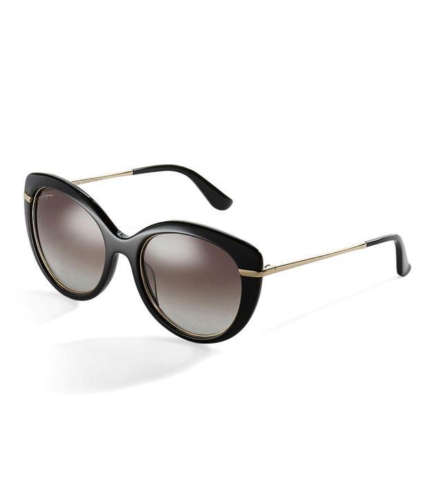 Salvatore Ferragamo Oversized Rhinestone Sunglasses